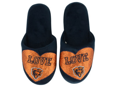 Chicago Bears Love Glitter Ladies Slide Slipper