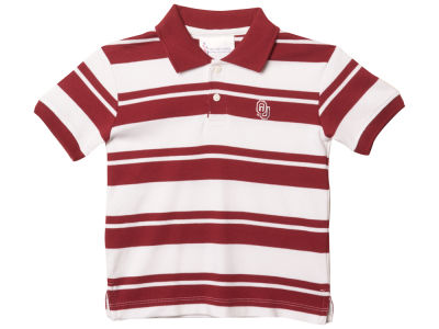Oklahoma Sooners NCAA Toddler Striped Golf Polo Shirt