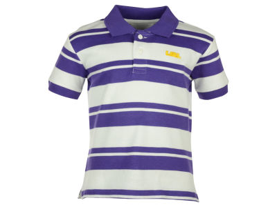 LSU Tigers NCAA Toddler Striped Golf Polo Shirt