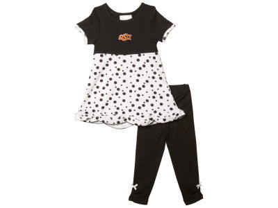 Oklahoma State Cowboys NCAA Toddler Polka Dot Shirt & Leggings Outfit