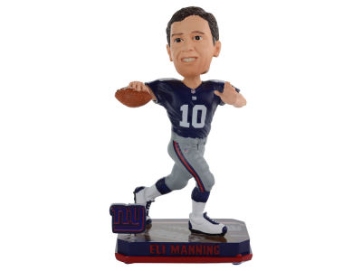 New York Giants Eli Manning Springy Logo Bobble