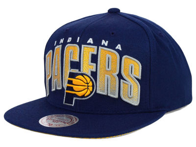 Indiana Pacers Mitchell and Ness NBA Teamstand Arch Snapback Cap