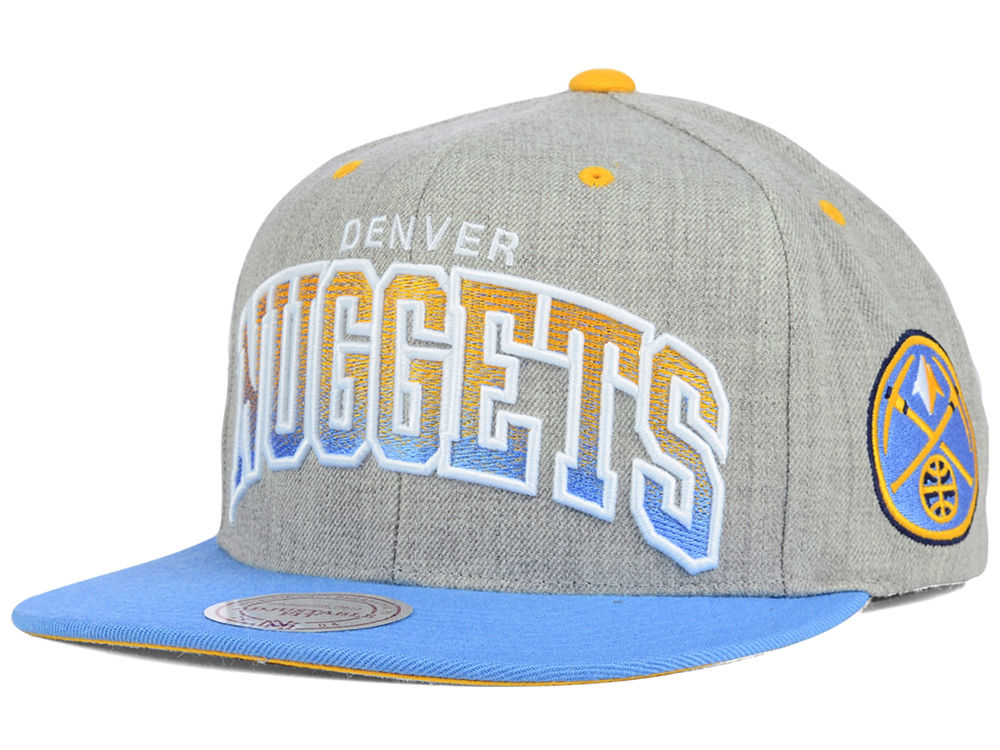 wholesale dealer 8f463 c4ee4 Denver Nuggets Mitchell   Ness NBA Heather Gradient Snapback Cap   lids.com