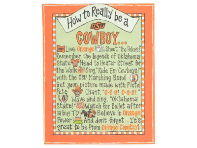Oklahoma State Cowboys How to Be Table Top Canvas