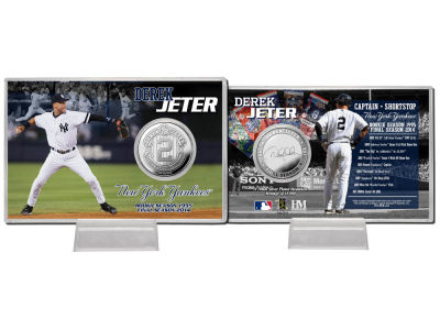 New York Yankees Derek Jeter Silver Coin and Card