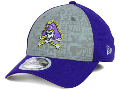 East Carolina Pirates New Era NCAA Reflective Training Mesh 39THIRTY Cap