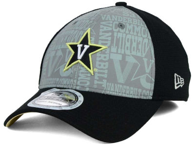 Vanderbilt Commodores New Era NCAA Reflective Training Mesh 39THIRTY Cap