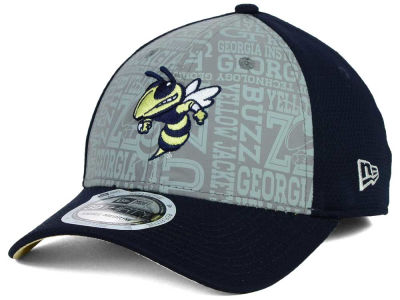 Georgia-Tech New Era NCAA Reflective Training Mesh 39THIRTY Cap