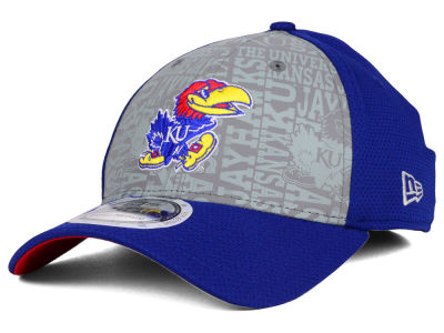 Kansas Jayhawks New Era NCAA Reflective Training Mesh 39THIRTY Cap