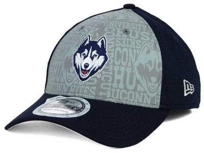 Connecticut Huskies New Era NCAA Reflective Training Mesh 39THIRTY Cap