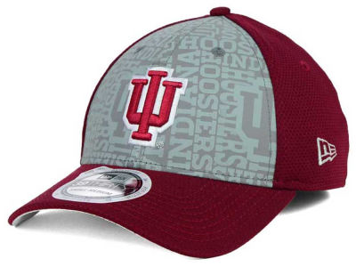 Indiana Hoosiers New Era NCAA Reflective Training Mesh 39THIRTY Cap