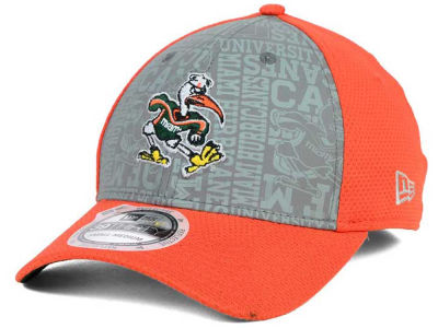 Miami Hurricanes New Era NCAA Reflective Training Mesh 39THIRTY Cap