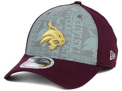 Texas State Bobcats New Era NCAA Reflective Training Mesh 39THIRTY Cap