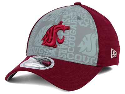 Washington State Cougars New Era NCAA Reflective Training Mesh 39THIRTY Cap