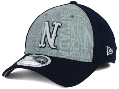 Nevada Wolf Pack New Era NCAA Reflective Training Mesh 39THIRTY Cap