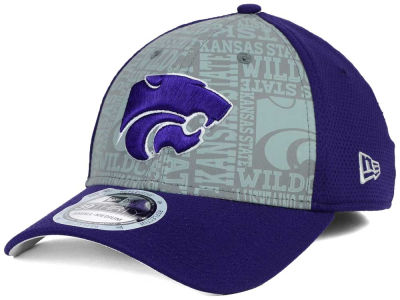 Kansas State Wildcats New Era NCAA Reflective Training Mesh 39THIRTY Cap