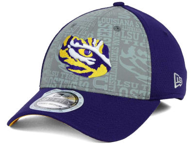 LSU Tigers New Era NCAA Reflective Training Mesh 39THIRTY Cap