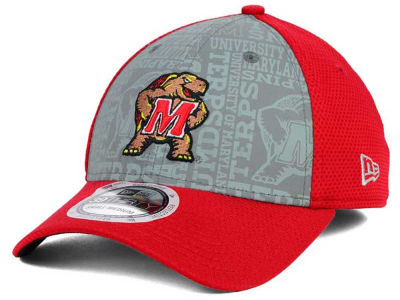 Maryland Terrapins New Era NCAA Reflective Training Mesh 39THIRTY Cap