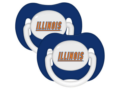 Illinois Fighting Illini 2-pack Pacifier Set