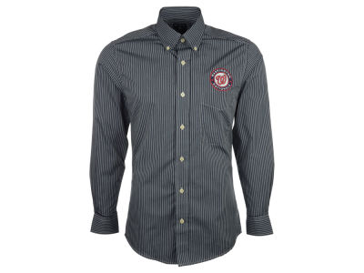 Washington Nationals Antigua MLB Men's Republic Button Up Woven Shirt
