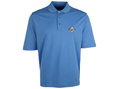 Tampa Bay Rays Antigua MLB Men's Pique Extra Lite Polo Shirt