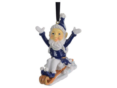 Los Angeles Dodgers Sledding Elf Ornament
