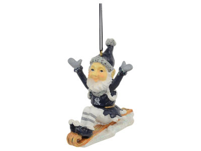 New York Yankees Sledding Elf Ornament