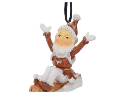 Texas Longhorns Sledding Elf Ornament