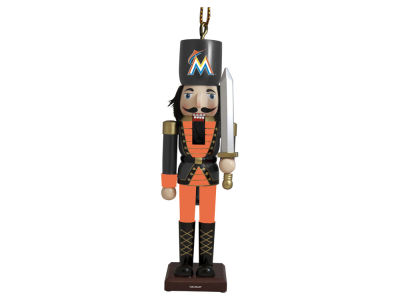 Miami Marlins Nutcracker Ornament