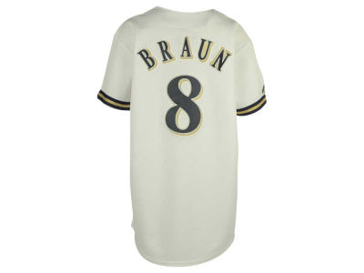 Milwaukee Brewers Ryan Braun MLB Youth Player Replica Jersey