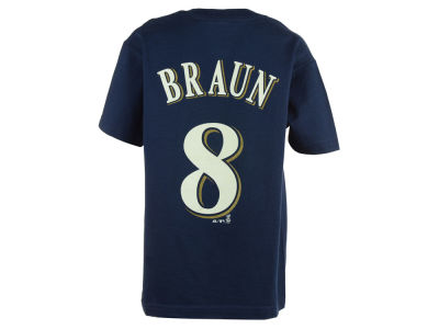 Milwaukee Brewers Ryan Braun  MLB Youth Player T-Shirt