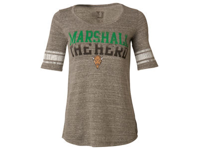 Marshall Thundering Herd NCAA Women's Striped Sleeve T-Shirt