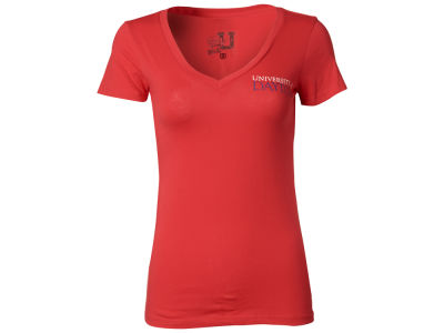 Dayton Flyers NCAA Womens V-Neck Foil T-Shirt