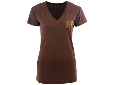 Wyoming Cowboys NCAA Womens V-Neck Foil T-Shirt
