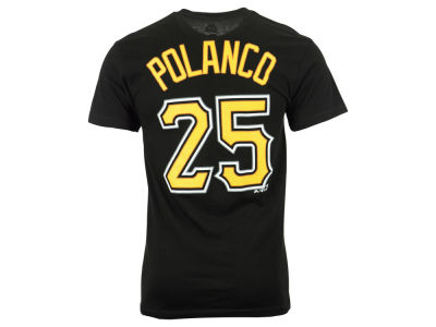 Pittsburgh Pirates Gregory Polanco Majestic MLB Men's Official Player T-Shirt