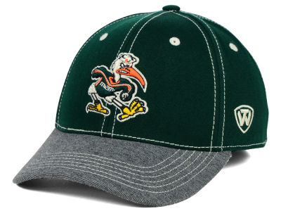 Miami Hurricanes Top of the World NCAA D'Up Stretch Cap