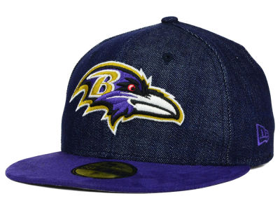 Baltimore Ravens New Era NFL Densuede 59FIFTY Cap