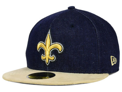 New Orleans Saints New Era NFL Densuede 59FIFTY Cap