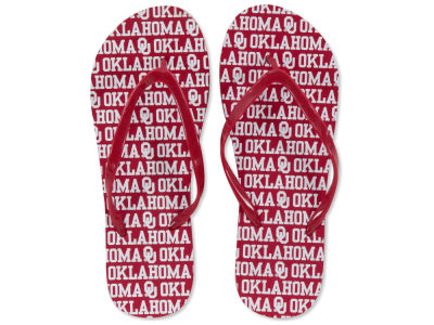 Oklahoma Sooners All Over Print Flip Flop