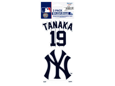 New York Yankees Masahiro Tanaka 2-pack 4x4 Die Cut Decal