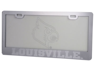 Louisville Cardinals Etched License Plate Frame
