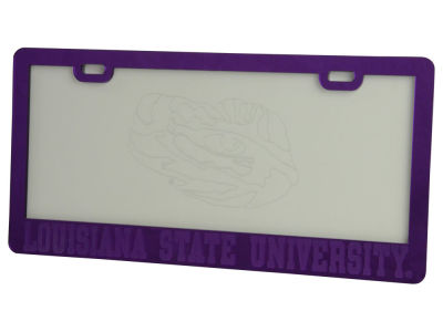 LSU Tigers Etched License Plate Frame