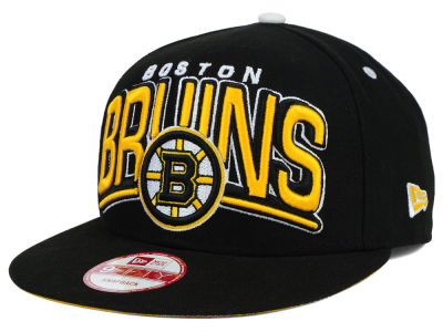 Boston Bruins New Era NHL Back Up 9FIFTY Snapback Cap