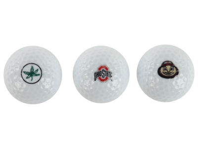 Ohio State Buckeyes NCAA Golf Ball 3 Pack