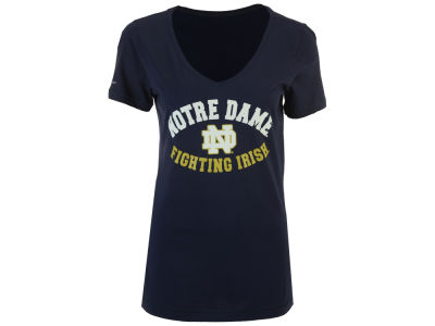 Notre Dame Fighting Irish NCAA Womens Arch V Neck T-Shirt