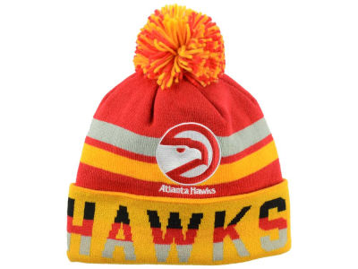Atlanta Hawks Mitchell and Ness NBA Trifecta Cuffed Pom Knit