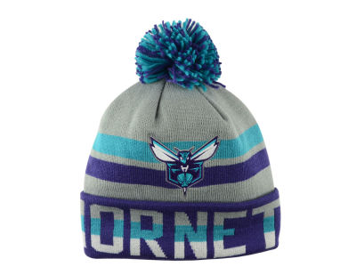 Charlotte Hornets Mitchell and Ness NBA Trifecta Cuffed Pom Knit