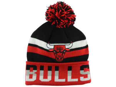 Chicago Bulls Mitchell and Ness NBA Trifecta Cuffed Pom Knit