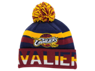 Cleveland Cavaliers Mitchell and Ness NBA Trifecta Cuffed Pom Knit