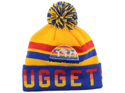 Denver Nuggets Mitchell and Ness NBA Trifecta Cuffed Pom Knit